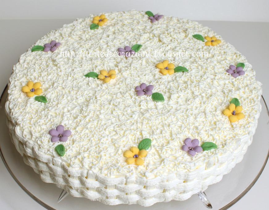 Torte e decorazioni torta ricotta e pere - Decorazioni porte ...