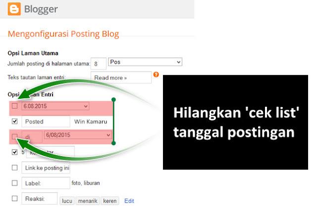 Pentingkah Menghilangkan Tanggal Postingan di Blog?