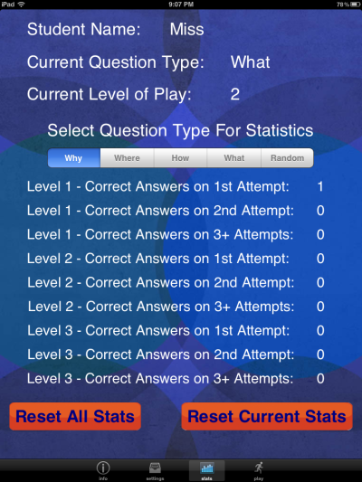 Question Builder Stats
