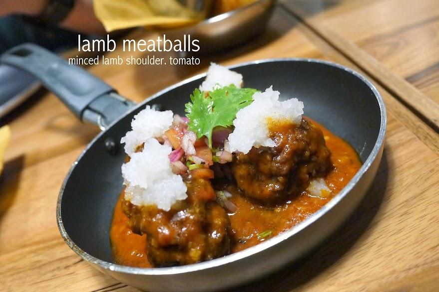 lamb meatballs Buns. Burger Bar