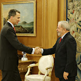 Encontro com o rei Felipe VI, da Espanha