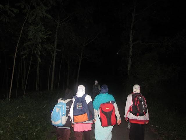 Suasana Perjalanan Pendakian