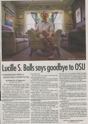 Lucille S. Balls graduates in OSU Barometer, Sat. Jun. 13, 2015, p. 6