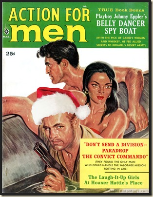 ACTION FOR MEN, March 1960 Xmas spoof, Rafael DeSoto art REV