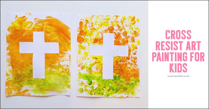 Easter Cross Resist Art
