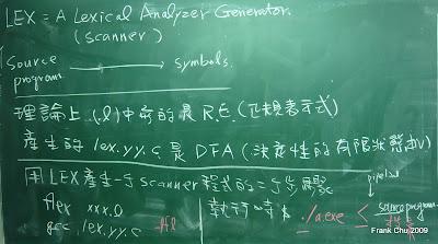 用LEX建立語彙分析器