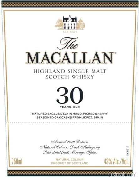 The Macallan Sherry Oak 30-Year 2019 Release