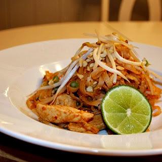 Spicy Chicken Pad Thai.