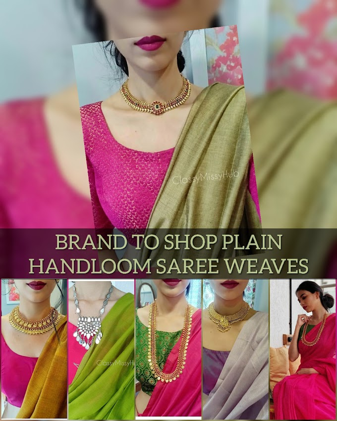 Checkout This Brand For Uber Serene Plain Sarees |Traditional weaves