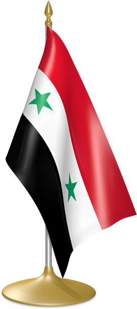 Syrian table flags - desk flags