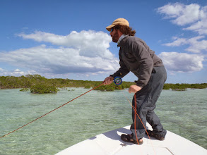 Photo: Since 1999 Brian Flechsig has been hosting trips to the Andros Island Bonefish Club- it's good to be home- Fall of 2010