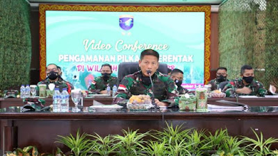 Pangdam XII/Tpr : Dansat Harus Berperan Penegakan Protkes Pilkada