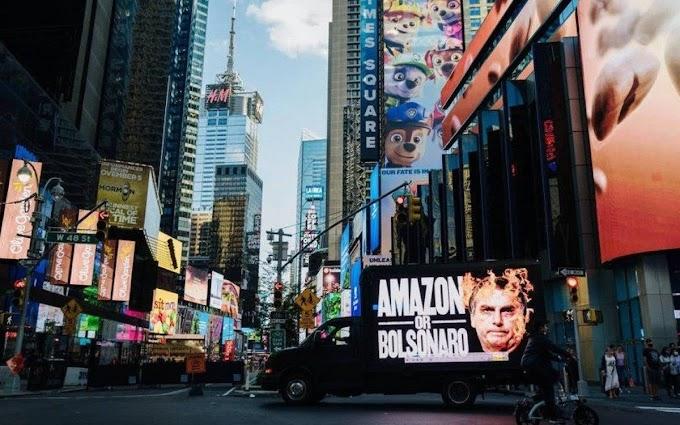 Guerra política, Bolsonaro é alvo de protesto em Nova York e rebate: 'Meia dúzia de acéfalos': veja o vídeo