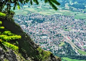 Blick vom Rubihorn auf Oberstdorf