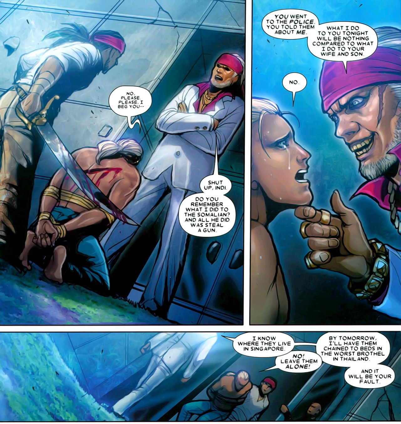 X-men Supreme: X-23 #7 - Consoling Awesome X 23 Gambit