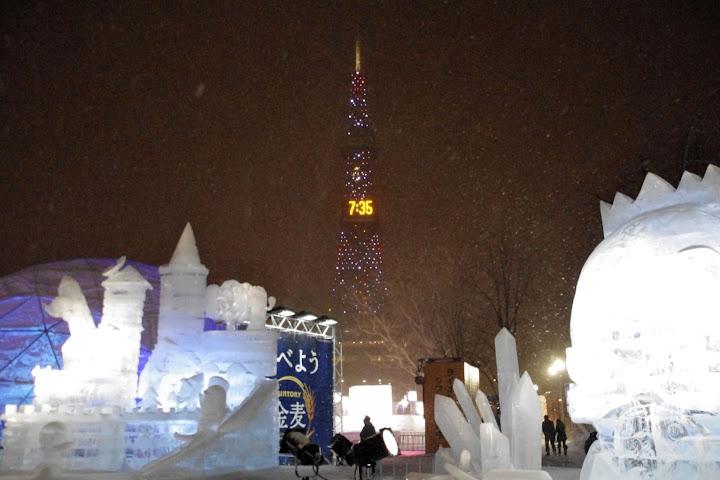会場から眺める札幌テレビ塔