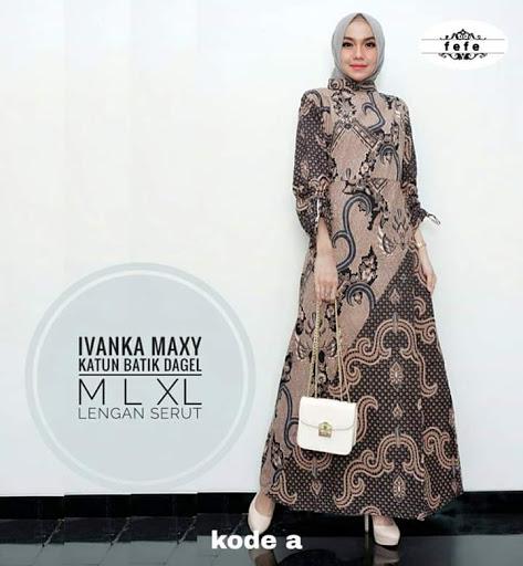 Model Gamis Batik Modern Terbaru 2019