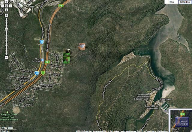 Localisation des photos autour de Mount Kuring-gai