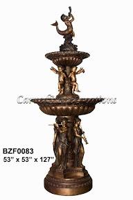 Bronze, Cherubs, Fountain, Musician, Statue, Tiered, Women