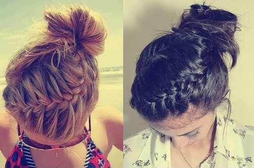 Trendy, creative and easy  updos for hair 2017 2