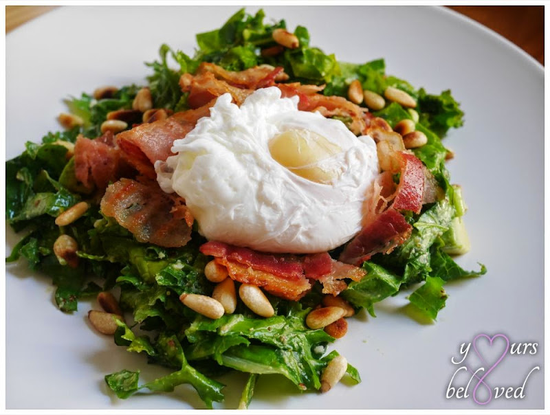 Day 27: Poached Egg Kale Salad
