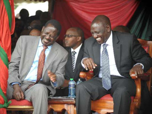Image result for Raila and Ruto