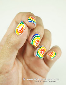 Rainbow Nail Art Design by Simply Rins