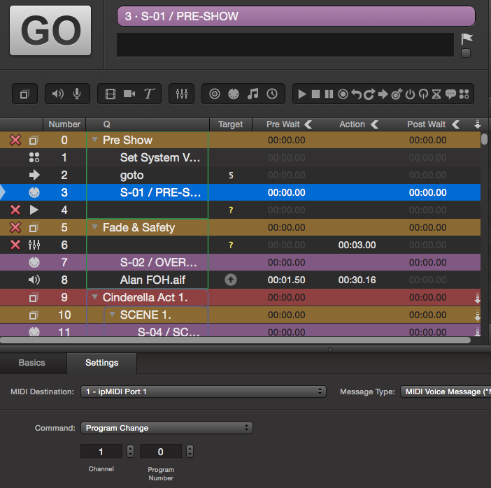 Show Cue Software