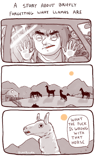Iguana Mouth Comics - Forgetting What Llamas Are