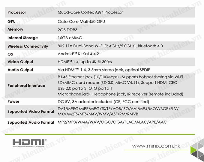 minix neo x8 h plus android tv box amlogic s812 h quad core 03 Spec Sheet