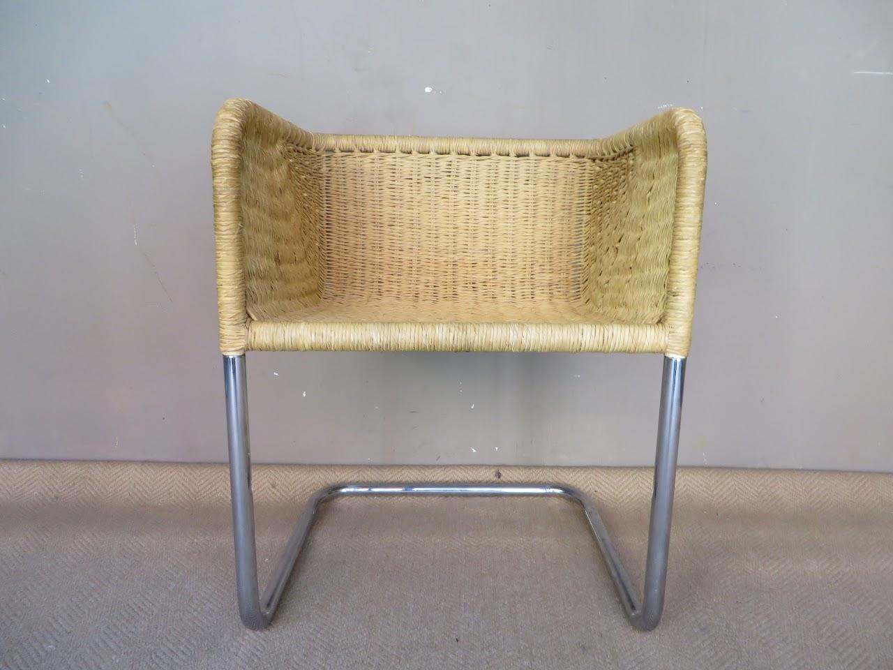 Rattan Woven Armchair