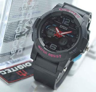 jam tangan Digitec ladies 2073 black  rubber