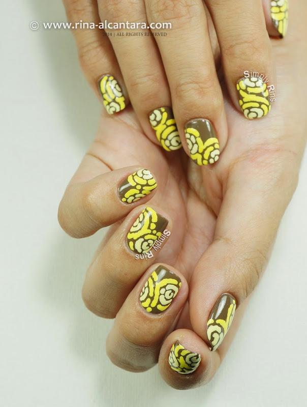 Merry Go Yellow Anniversary Nail Art