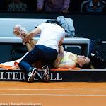 STUTTGART, GERMANY - APRIL 21 : Andrea Petkovic in action at the 2016 Porsche Tennis Grand Prix