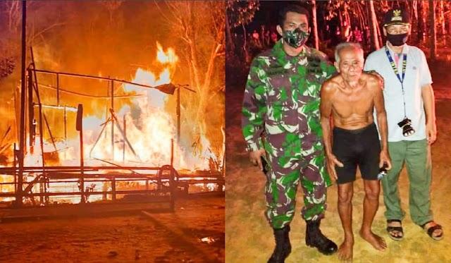 Kebakaran Sei Hanyo, Amuk Api Lahap Rumah Kakek 85 Tahun