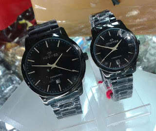 jam tangan Hegner couple date full black