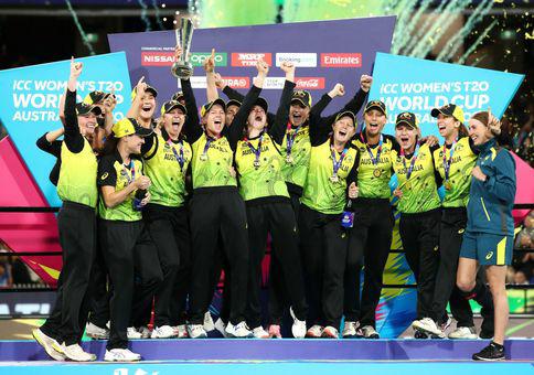 INDIA VS AUSTRALIA 20-20 WORLD CUP FINAL - AUSTRALIA CELEBRATION