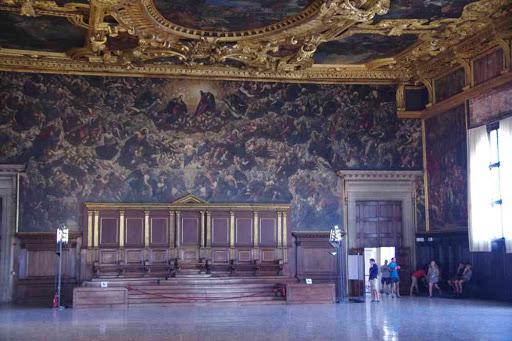 Salle du Grand Conseil du palais des Doges.