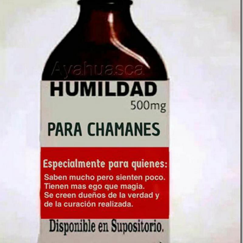humor Medicina humildad para chamanes