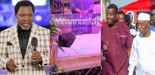 Nigerians React As Pastor Adeboye, Bishop Oyedepo and other Top Nigerian Pastors Boycot TB Joshua's Funeral