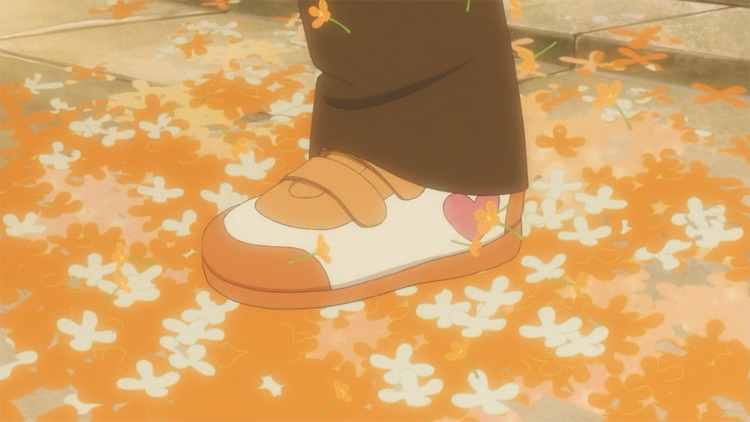 Usagi Drop Rin autumn shoes orange leaves