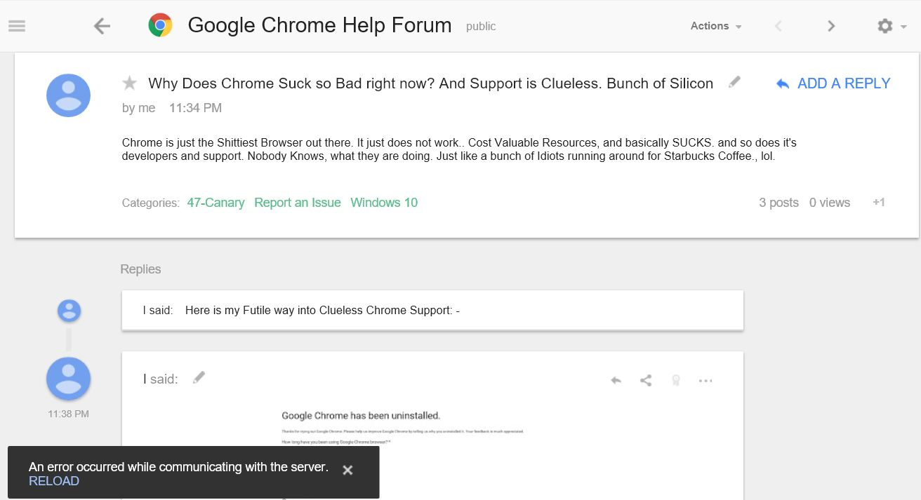 What always suck the chrome willing little