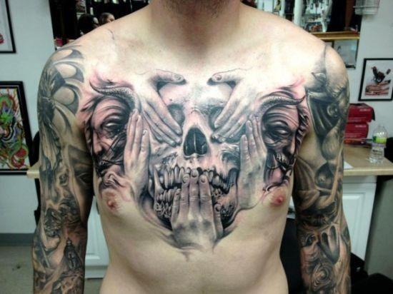 açcar_crnio_desenho_de_tatuagem_no_peito