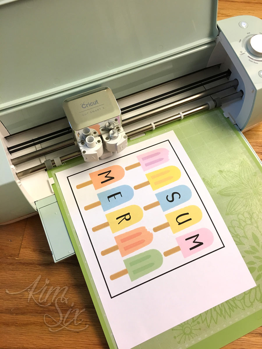 How to Print Then Cut With A Cricut Machine - The Kim Six Fix