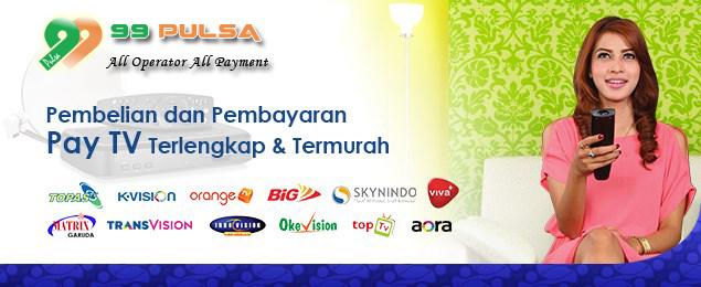 TV Paska dan Pra Bayar Murah Tersedia di 99 Pulsa