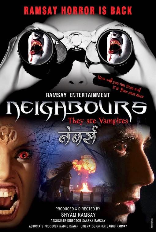 Poster Of Hindi Movie Neighbours: They Are Vampires (2014) Free Download Full New Hindi Movie Watch Online At Alldownloads4u.Com