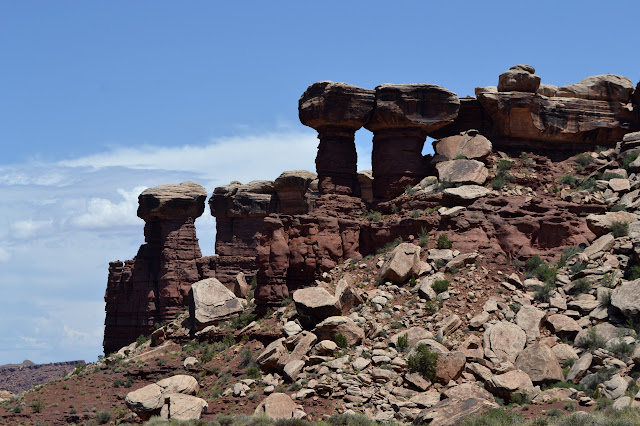 capped stone pillars