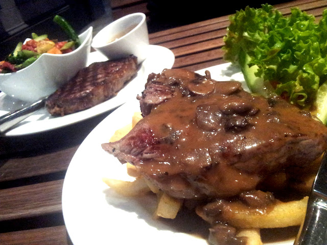 Rump steak, Griffins Head, Adelaide