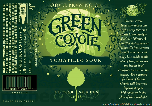 Odell Brewing Green Coyote Returns As Part Of 2018 Cellar Series