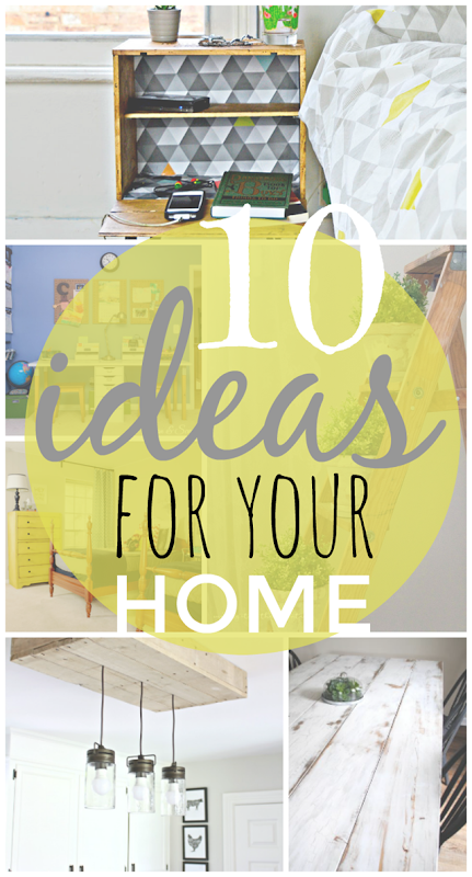10 Ideas for Your Home at GingerSnapCrafts.com #forthehome #DIY #gingersnapcrafts